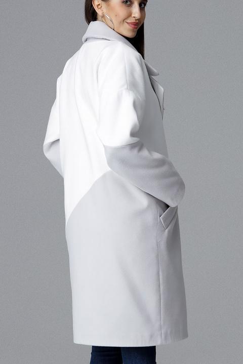 Płaszcz M626 Szary Biały